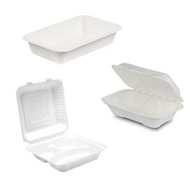 COMPOSTABLE MEAL BOXES AND TRAYS