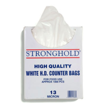 STRONGHOLD WHITE HDPE BUTCHER BAGS BOXED