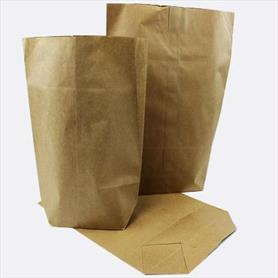 BLOCK BOTTOM ROSE KRAFT PAPER BAGS