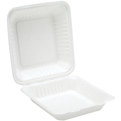 "9"" COMPOSTABLE BAGASSE MEAL BOX"