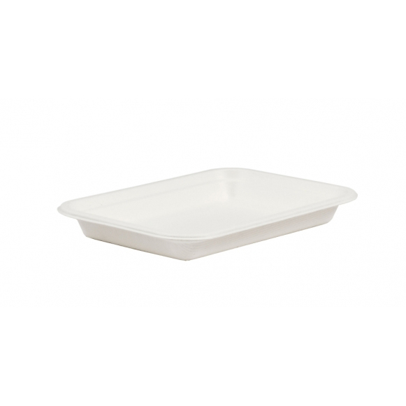 "7"" COMPOSTABLE BAGASSE TRAY"
