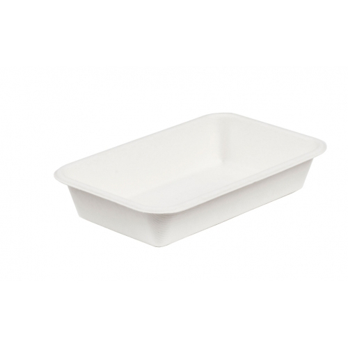 8.5 x 5 DEEP COMPOSTABLE BAGASSE TRAY