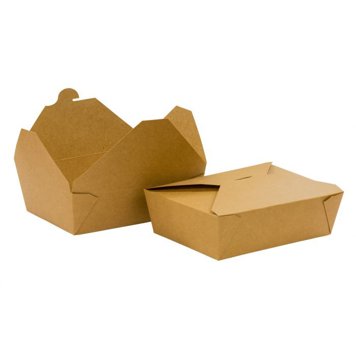 LARGE NO.3 BROWN COMPOSTABLE KRAFT FOOD BOXES