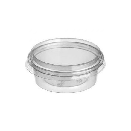 2OZ PLASTIC DELI POT WITH LID