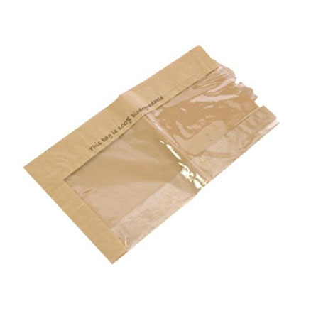 BIODEGRADABLE FILM FRONT BROWN PAPER BAG