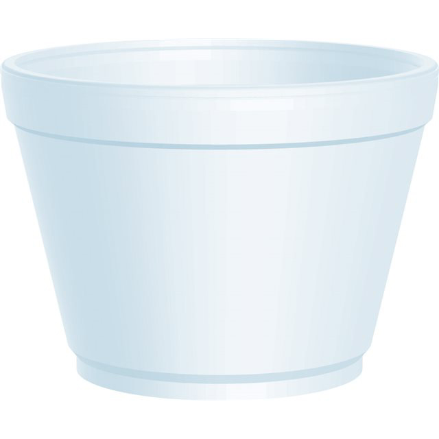 16OZ DART WHITE POLYSTYRENE CONTAINERS