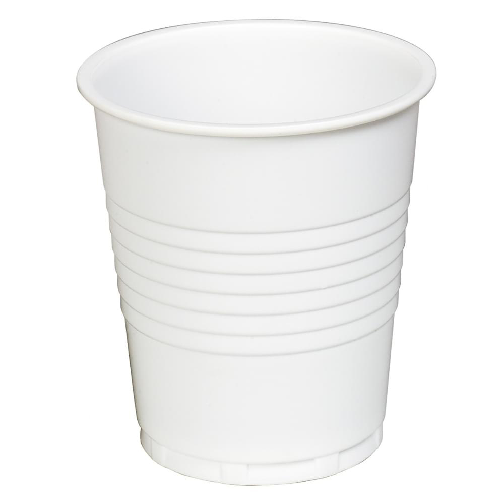 7OZ WHITE PLASTIC DRINKING CUP