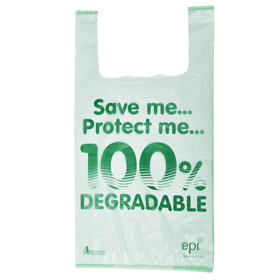 LARGE DEGRADABLE VEST CARRIER BAG