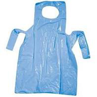 BLUE POLYTHENE DISPOSABLE APRONS ON A ROLL