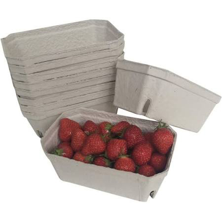500G BIODEGRADABLE PULP FIBRE FRUIT PUNNET
