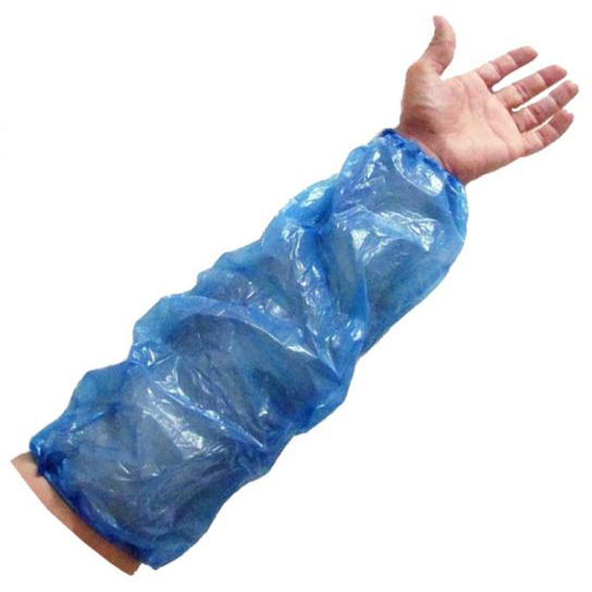 DISPOSABLE BLUE POLYTHENE OVERSLEEVES