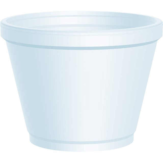 12oz SQUAT WHITE POLYSTYRENE CONTAINER