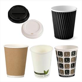 HOT PAPER DRINK CUPS AND LIDS
