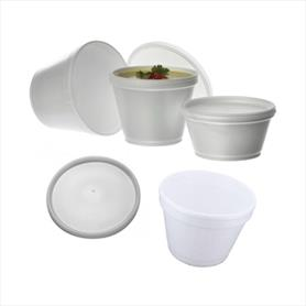 HOT POLYSTYRENE CONTAINERS AND LIDS
