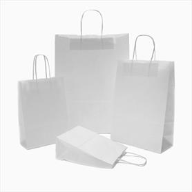 WHITE ROPE TWIST HANDLE PAPER CARRIER BAG (ACCESSORY)