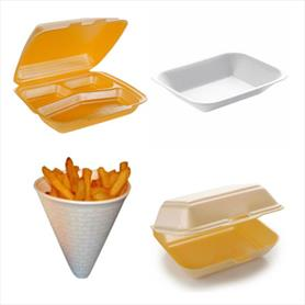 POLYSTYRENE TAKEAWAY CONTAINERS AND TRAYS