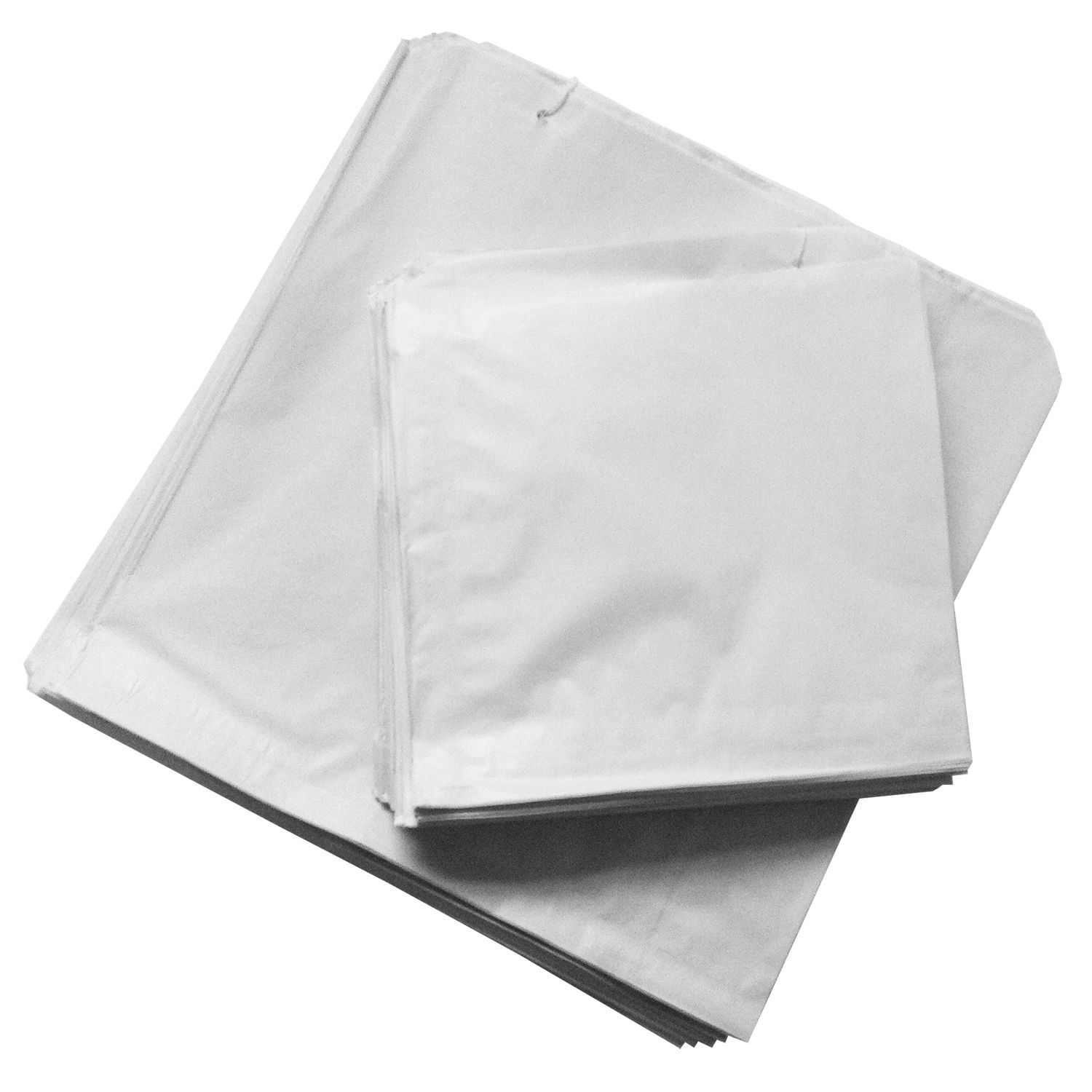 WHITE STRUNG PAPER BAGS